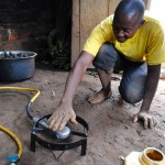 Testing biogas for the first time